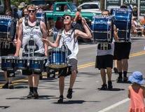 Batteristi alla parata della valle del Mohawk Immagini Stock