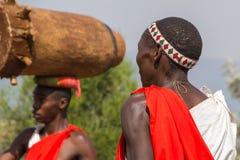 Batteristi del Burundi Fotografie Stock Libere da Diritti