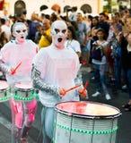Batteristi della scintilla dei Worldbeaters Fotografie Stock