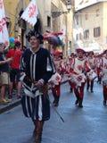 Batteristi nella parata storica a Firenze Fotografia Stock Libera da Diritti
