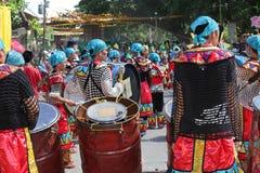 Batteristi tribali Filippine Immagini Stock Libere da Diritti