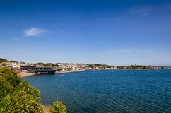 Batteristranda public beach and recreational area Larvik Vestfol royalty free stock photos