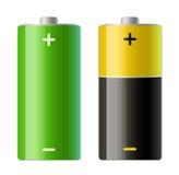 batterisymboler två royaltyfri illustrationer