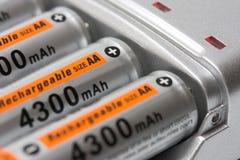 batteriuppladdare Arkivbild