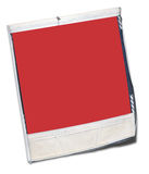 Batterred instant picture frame. Battered instant  photo with red space to add your own image Stock Photos