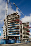 Battersea Apartments Construction. LONDON, ENGLAND - FEBRUARY 5: Construction of the high end Riverlight apartments overlooking the River Thames at Nine Elms in Royalty Free Stock Photography