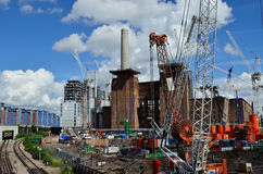 Battersea construction site Royalty Free Stock Photos