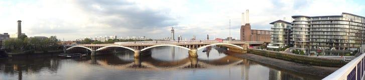 Battersea en de rivier Londen het UK van Theems Royalty-vrije Stock Foto's