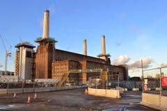 Battersea kraftverkutveckling London Arkivbilder