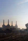 Battersea Kraftwerk von Pimlico Stockbilder