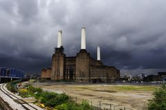 Battersea power plant in London Royalty Free Stock Photo