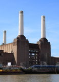 Battersea power station. View from the River Thames of Battersea Power Station, a Grade II listed building, during its redevelopment, London, England Stock Photos