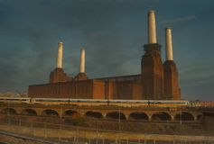 Battersea Power Station. Old Battersea Power Station London UK royalty free stock photography
