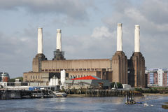 Battersea Power Station. London Battersea Powerstation, located in Wandsworth,  was abandoned factory power station. This Iconic landmark is sold for 400 million Royalty Free Stock Image