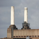 Battersea Power Station. London Battersea Powerstation, located in Wandsworth,  was abandoned factory power station. This Iconic landmark is sold for 400 million Royalty Free Stock Photos