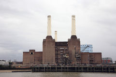 Battersea Power Station. London Battersea Powerstation, located in Wandsworth,  was abandoned factory power station. This Iconic landmark is sold for 400 million Royalty Free Stock Photo