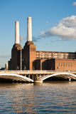 Battersea power station and bridge Stock Image