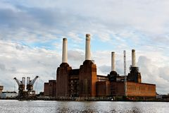 Battersea power station in London. England, UK Royalty Free Stock Photos