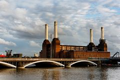 Battersea power station in London. England, UK Royalty Free Stock Images
