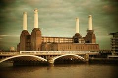 Battersea Power Station London. Battersea Power Station over Thames river as the famous London landmark Stock Image