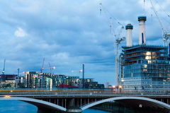 Battersea power station, London, View from Chelsea Bridge Stock Photos