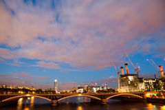 Battersea power station, London, View from Chelsea Bridge Royalty Free Stock Photos