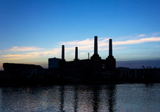 Battersea Power Station Silhouette Royalty Free Stock Image