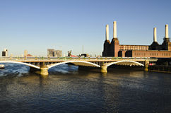 Battersea Power station. View of the famous Battersea Power Station, in London UK shot from the Chelsea bridge Stock Photo