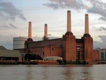 Battersea strömstation i London Arkivfoton