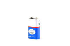Battery. Cell in white background Stock Image