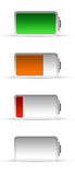 Battery. (different charge) on white royalty free illustration