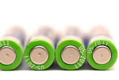 Battery. 4 AAA batteries on white background Stock Photography