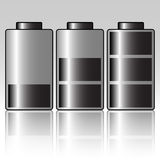 Battery. Illustration of three batteries on a gray background vector illustration