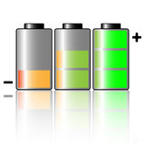 Battery. Illustration of three batteries on a white background vector illustration