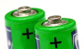 Battery. Pencil battery over white background royalty free stock photos