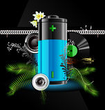 Battery. Vector icon with the level of battery charge Royalty Free Stock Photos
