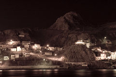 The Battery. A long exposure of the Battery, an old part of St. John's Royalty Free Stock Photo