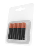 Battery AA Blister Packed. 3d Rendering Stock Images