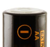 Battery AA. Negative Stock Photo