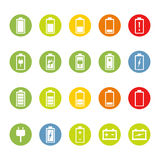 Battery and Accumulator Icons Royalty Free Stock Images