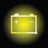 Battery art vector illustration symbol. Battery vector illustration symbol on black background stock illustration