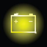 Battery art vector illustration symbol Royalty Free Stock Photos