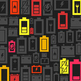 Battery a background. Background made of a battery. A vector illustration Royalty Free Stock Photos