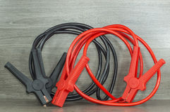 Battery booster cables. For all types of motor vehicles Stock Images