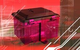 Battery box Stock Image