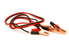 Battery cables isolated Royalty Free Stock Image
