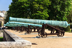 Battery of cannons Stock Image