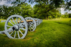 Battery of cannons ready to defend Valley Forge Royalty Free Stock Photos