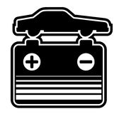 Battery car symbol Royalty Free Stock Photos