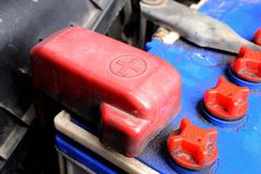 Battery car terminal Royalty Free Stock Photos